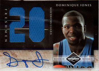 2010-11 Limited Freshmen Jumbo Jersey Numbers Signatures #25 Dominique Jones