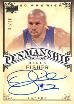 2008-09 Upper Deck Premier Penmanship Autographs #PENDF Derek Fisher