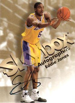 1998-99 SkyBox Premium Autographics #66 Eddie Jones