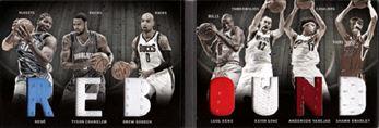 2011-12 Panini Preferred Rebound Memorabilia #5 Nene/Luol Deng/Anderson Varejao/Kevin Love/Tyson Chandler/Drew Gooden/Shawn Bradley