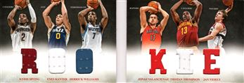 2012-13 Panini Preferred Rookie Memorabilia #9 Kyrie Irving/Derrick Williams/Enes Kanter/Tristan Thompson/Jonas Valanciunas/Jan Vesely
