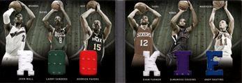 2011-12 Panini Preferred Rookies Memorabilia #2 John Wall/Andy Rautins/DeMarcus Cousins/Larry Sanders/Evan Turner/Derrick Favors