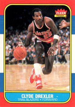 1986-87 Fleer #26 Clyde Drexler RC