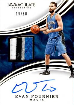 2015-16 Immaculate Collection Patch Autographs #PAEFO Evan Fournier/60