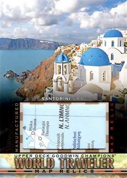 2017 Upper Deck Goodwin Champions World Traveler Maps #WT37 Santorini, Greece H
