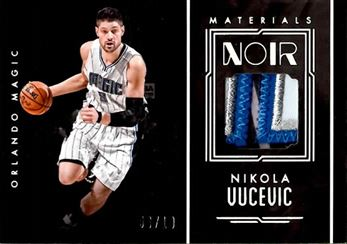 2016-17 Panini Noir Materials Color Patch #21 Nikola Vucevic/10