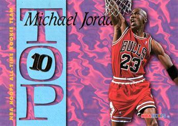 1995-96 Hoops Top Ten #AR7 Michael Jordan