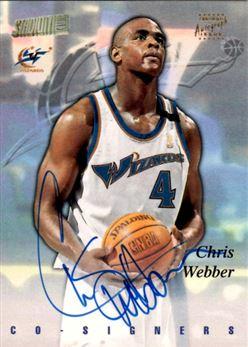 1997-98 Stadium Club Co-Signers #CO24 Chris Webber/Kerry Kittles