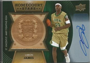 2014-15 Upper Deck Lettermen Home Court Stars Autographs #HSJA LeBron James