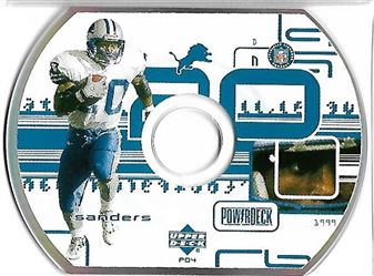 1999 Upper Deck PowerDeck #PD04 Barry SANDERS (lions) $6.00