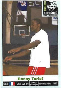 2003 Krepsinis Stickers Lithuanian #NNO Ronny TURIAF (france) n/a
