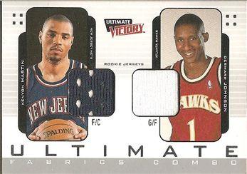 2000-01 Ultimate Victory Ultimate Fabrics #UFC3 Kenyon MARTIN (nets) JERSEY (blue) / Dermarr JOHNSON (hawks) JERSEY (white) $12.00
