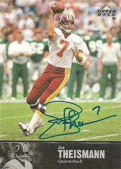 1983 - 1997 Upper Deck Legends Autographs #AL174 Joe THEISMANN (redskins) AUTO $30.00