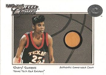 2001 Greats of the Game Feel the Game Hardwood Classics #18 Sheryl SWOOPES (texas tech) GU COURT $8.00