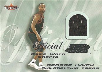 2000-01 Fleer Feel the Game #16 George LYNCH (76ers) SHORTS (black) $5.00