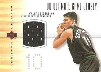 2000-01 Ultimate Collection Game Jerseys Bronze #WSJ Wally SZCZERBIAK (wolves) JERSEY (black) $10.00
