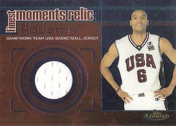 2000-01 Finest Moments Relics #FMR5 Allan HOUSTON (usa) B JERSEY (white) $12.00