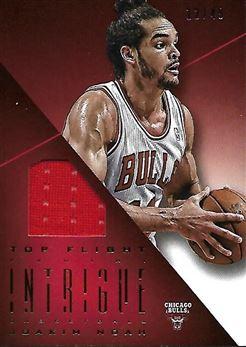 2012-13 Panini Intrigue Top Flight Unis #68 Joakim NOAH (bulls) 12/49 GAME-WORN (red) $8.00