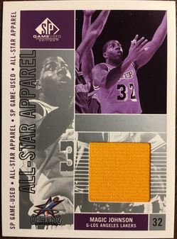 2002-03 SP Game Used All-Star Apparel #MGAS Magic JOHNSON (lakers) 2002 ALL-STAR EVENT-USED WARM-UP (yellow) $15.00
