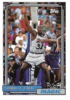 1992-93 Topps #362 Shaquille O'NEAL (magic) Rookie Card $100.00