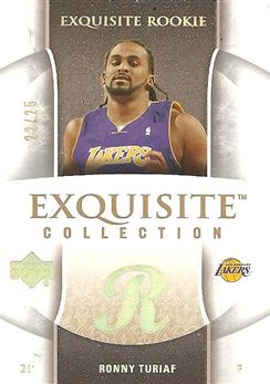 2005-06 Exquisite Collection Gold #91 Ronny TURIAF (lakers) 22/25 $40.00