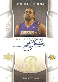 2005-06 Exquisite Collection Rookie Parallel #91AP Ronny TURIAF (lakers) 11/21 AUTO $200.00
