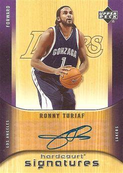 2005-06 Upper Deck Hardcourt Signatures #RT Ronny TURIAF (ncaa gonzaga) AUTO $15.00