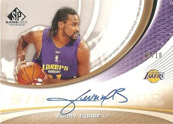 2005-06 SP Game Used SIGnificance 10 #RT Ronny TURIAF (lakers) 10/10 AUTO n/a