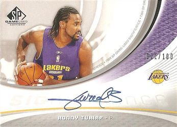 2005-06 SP Game Used SIGnificance #RT Ronny TURIAF (lakers) 021/100 AUTO $15.00