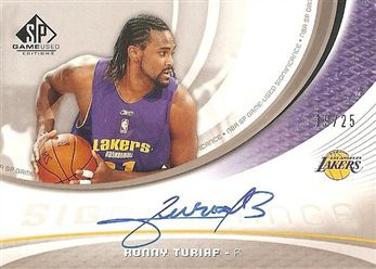 2005-06 SP Game Used SIGnificance 25 #RT Ronny TURIAF (lakers) 19/25 AUTO $30.00