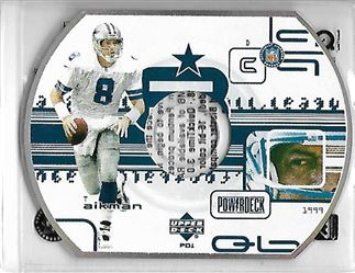 1999 Upper Deck PowerDeck #PD01 Troy AIKMAN (cowboys) $4.00