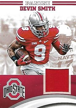2015 Panini Ohio State Jerseys #55 Devin SMITH (ncaa buckeyes) PLAYER-WORN MATERIAL (red) n/a