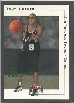 2001-02 Fleer Premium #180 Tony Parker RC