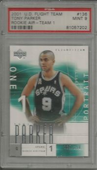 2001-02 Upper Deck Flight Team #136A Tony Parker RC