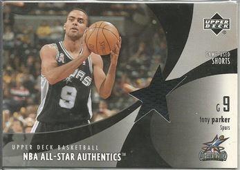 2002-03 Upper Deck All-Star Authentics Shorts #TPAS Tony Parker
