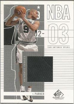 2002-03 SP Game Used #87 Tony Parker JSY