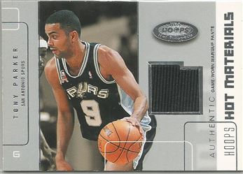 2002-03 Hoops Hot Prospects Hot Materials #27 Tony Parker