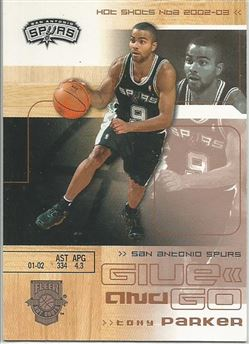 2002-03 Fleer Hot Shots Hot Hands #125 Tony Parker/David Robinson