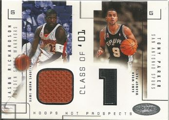 2002-03 Hoops Hot Prospects Class Of Jerseys #13 Jason Richardson/Tony Parker