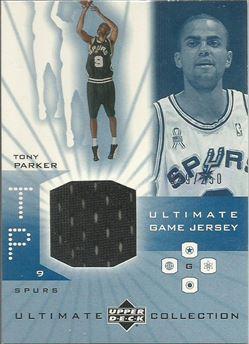 2001-02 Ultimate Collection Jerseys #TP Tony Parker