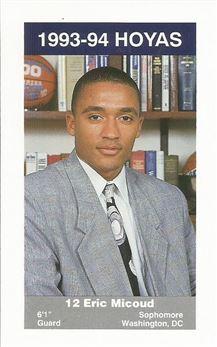 1993-94 Georgetown #7 Eric Micoud