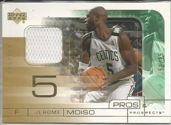 2001-02 Upper Deck Pros and Prospects Game Jerseys Gold #JM Jerome Moiso