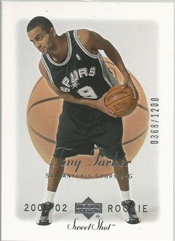 2001-02 Sweet Shot #104 Tony Parker RC