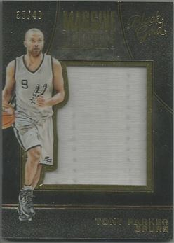 2015-16 Panini Black Gold Massive Materials #36 Tony Parker/49
