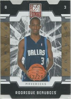 2009-10 Donruss Elite Status Gold #183 Rodrigue Beaubois