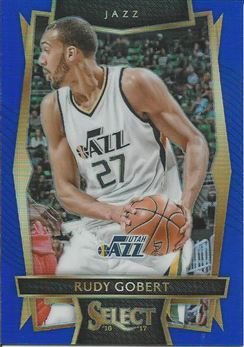 2016-17 Select Prizm Blue #48 Rudy Gobert