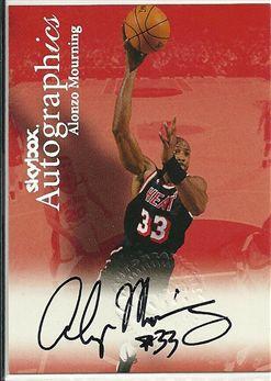 1999-00 SkyBox Premium Autographics #78 Alonzo Mourning
