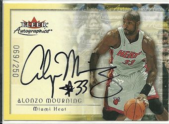 2000-01 Fleer Autographics Silver #52 Alonzo Mourning	/250