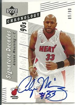 2006-07 Chronology Signature Decades #DAM Alonzo Mourning /90