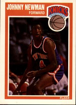 1989-90 Fleer #102 Johnny Newman RC